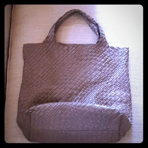 Falor Woven Leather Shoulder Bag